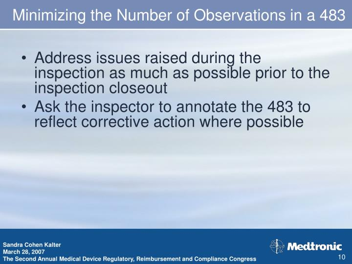 Minimizing the Number of Observations in a 483