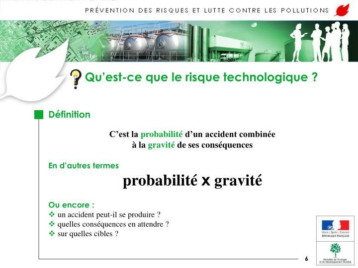 Qu'est-ce que le risque technologique ?