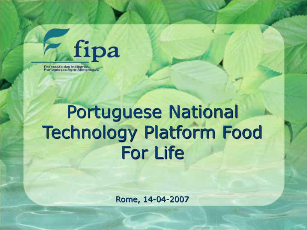 Portuguese National Technology Platform Food For Life