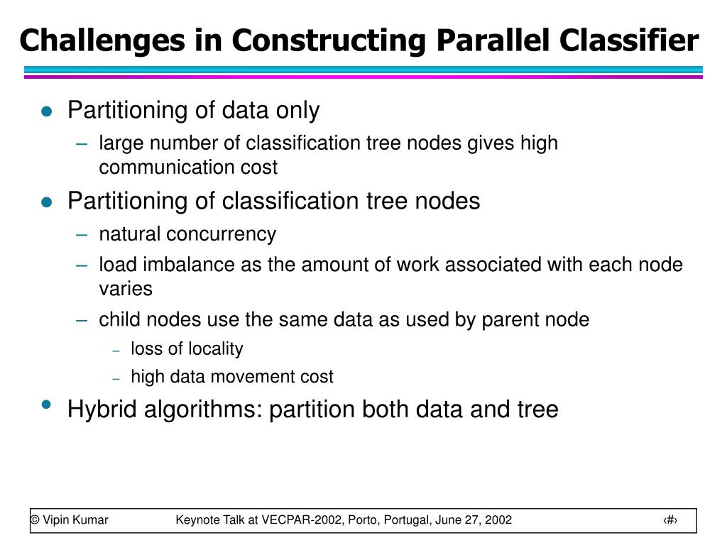 Challenges in Constructing Parallel Classifier