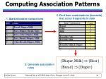 computing association patterns