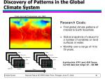 discovery of patterns in the global climate system