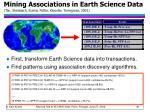mining associations in earth science data tan steinbach kumar potter klooster torregrosa 2001