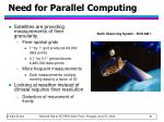 need for parallel computing