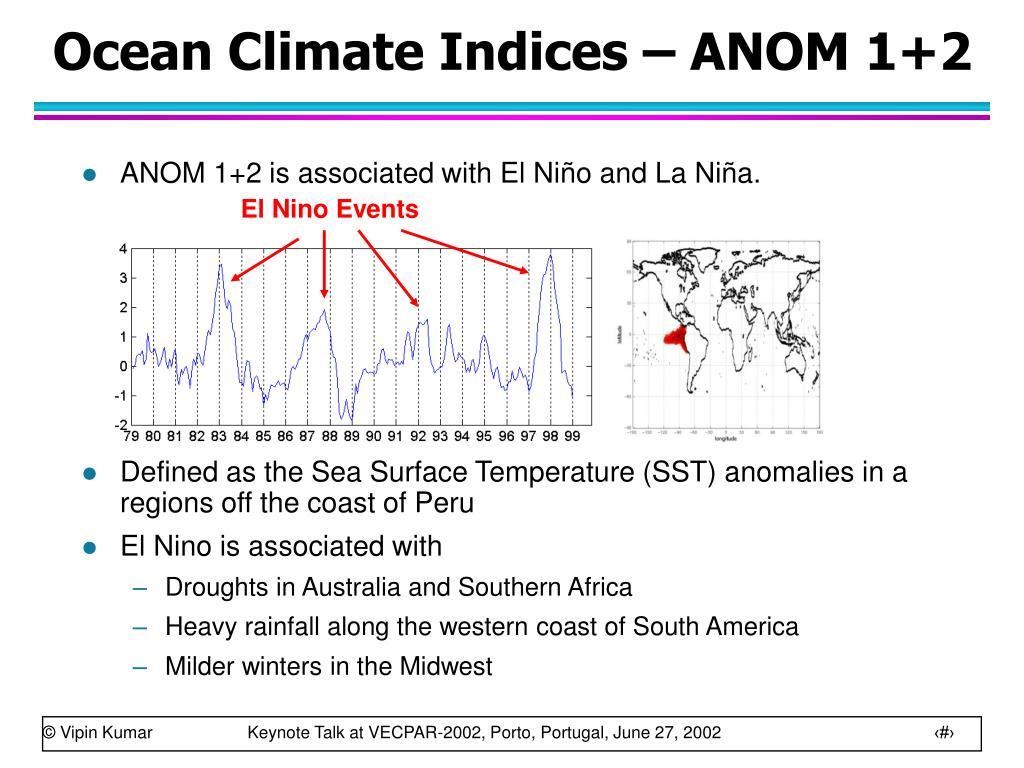 Ocean Climate Indices – ANOM 1+2