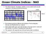 ocean climate indices nao