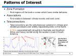 patterns of interest