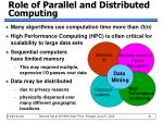 role of parallel and distributed computing