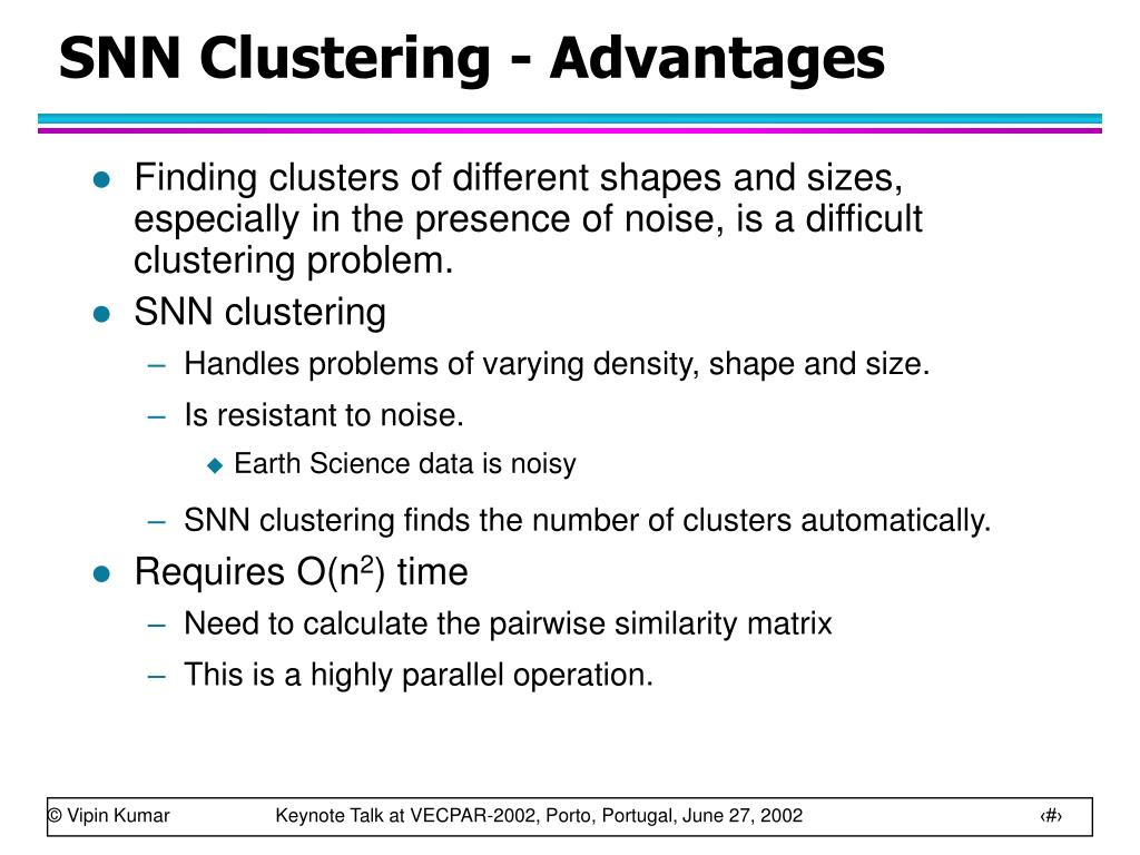 SNN Clustering - Advantages