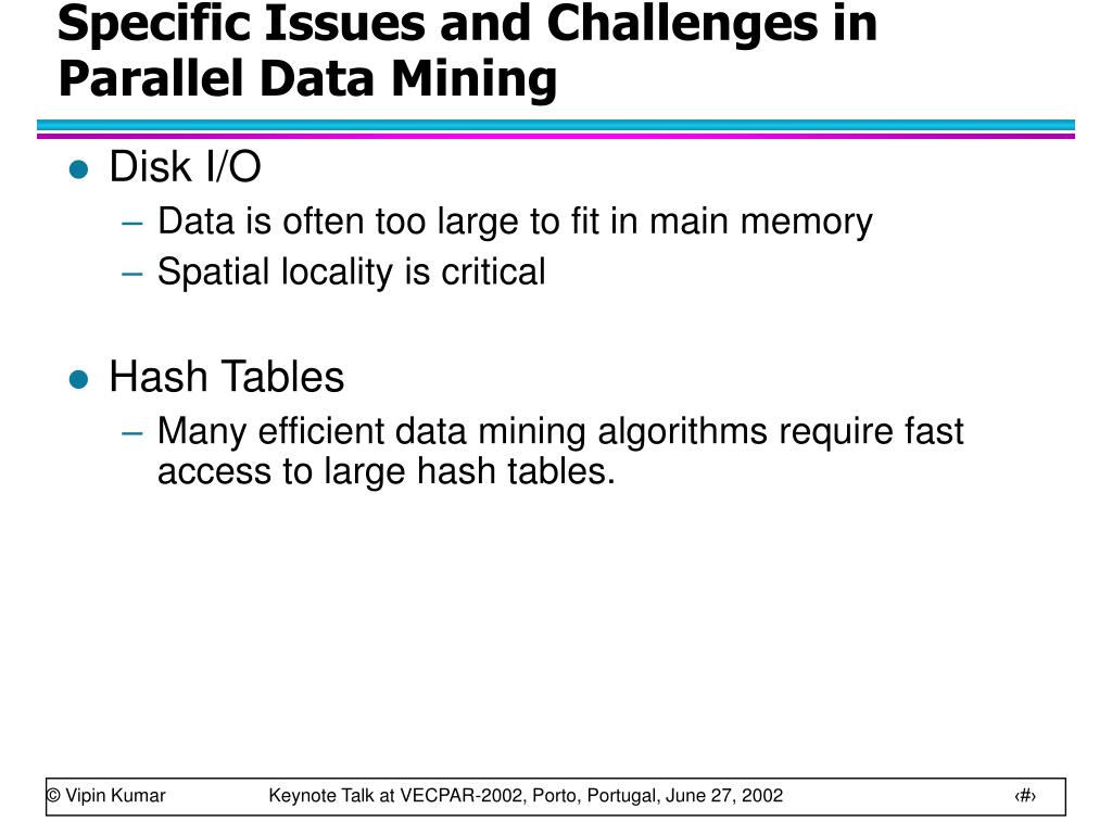 Specific Issues and Challenges in Parallel Data Mining