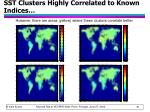 sst clusters highly correlated to known indices56