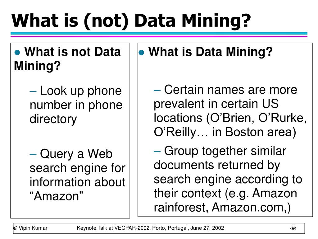 What is (not) Data Mining?