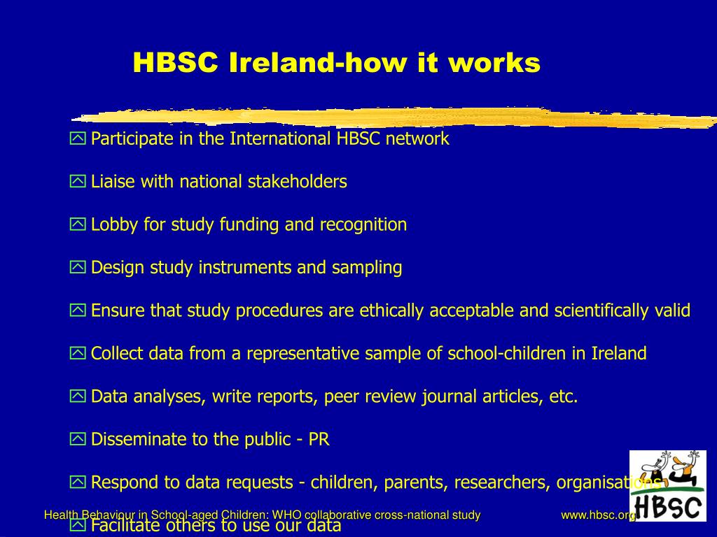 HBSC Ireland-how it works
