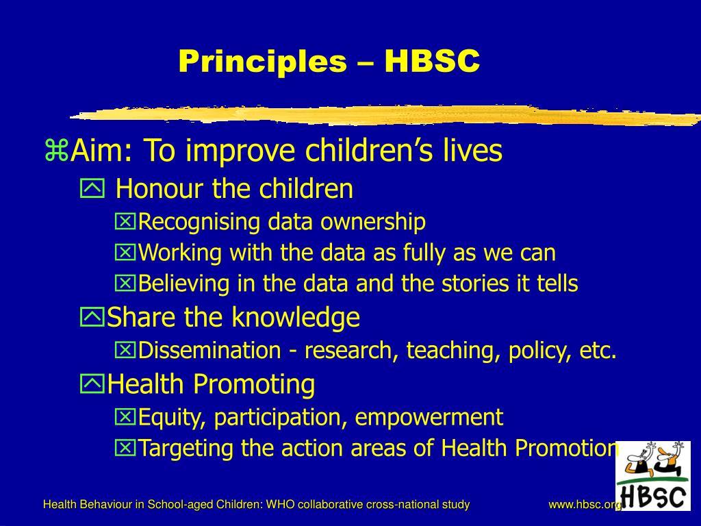 Principles – HBSC