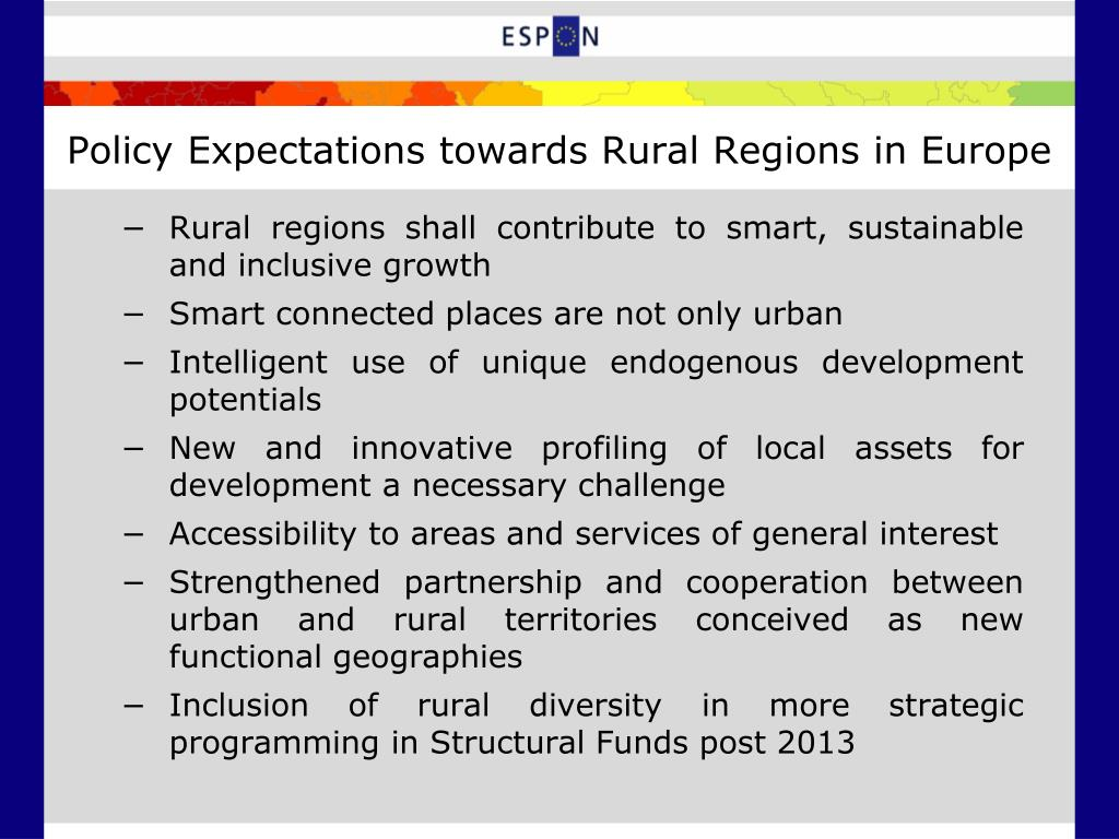 Policy Expectations towards Rural Regions in Europe