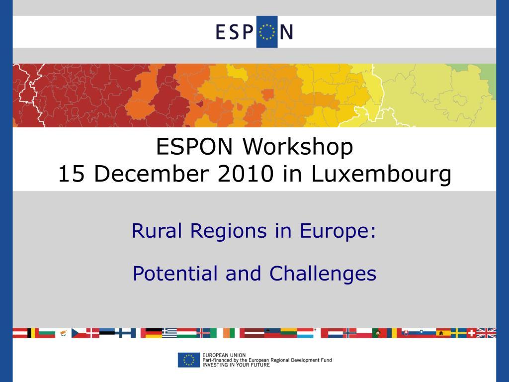 ESPON Workshop