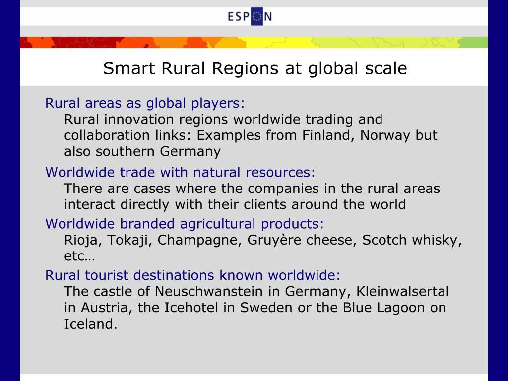 Smart Rural Regions at global scale
