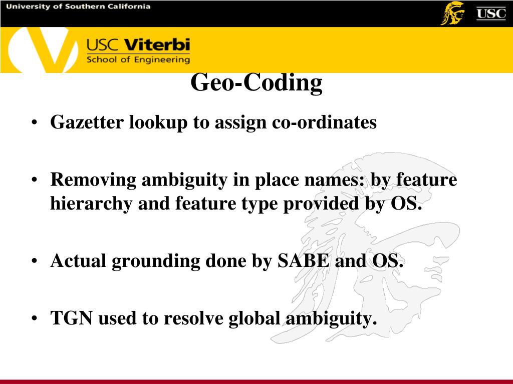 Geo-Coding