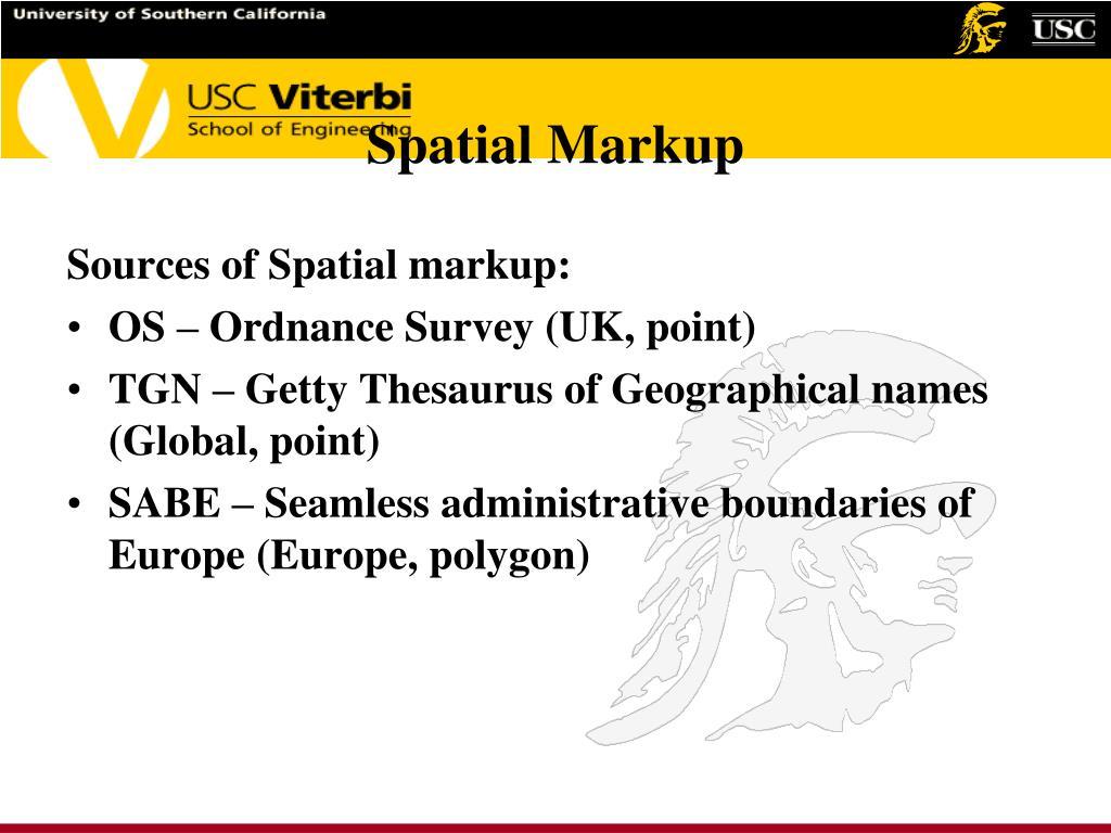 Spatial Markup