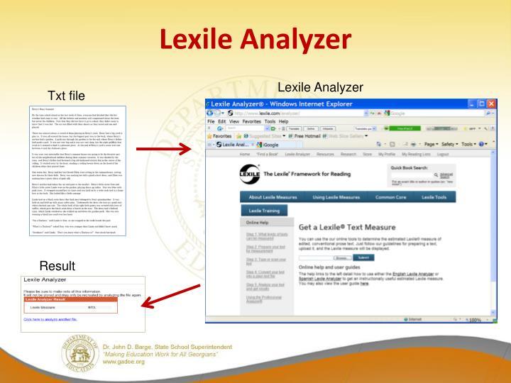 Lexile Analyzer