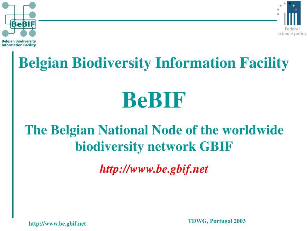 Belgian Biodiversity Information Facility