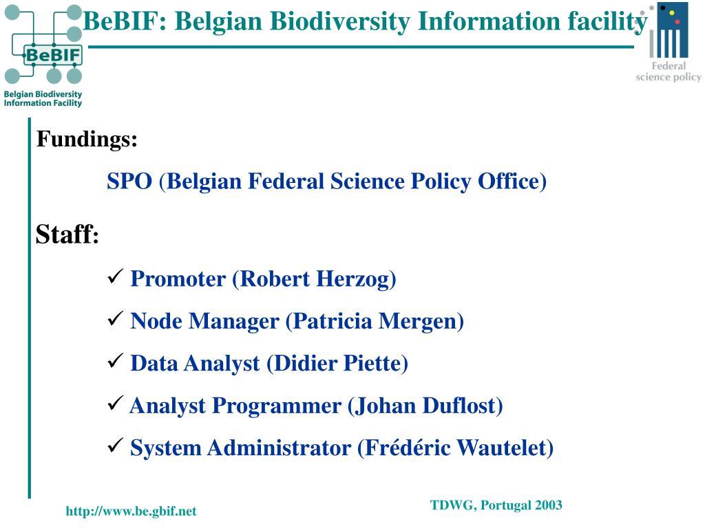 BeBIF: Belgian Biodiversity Information facility