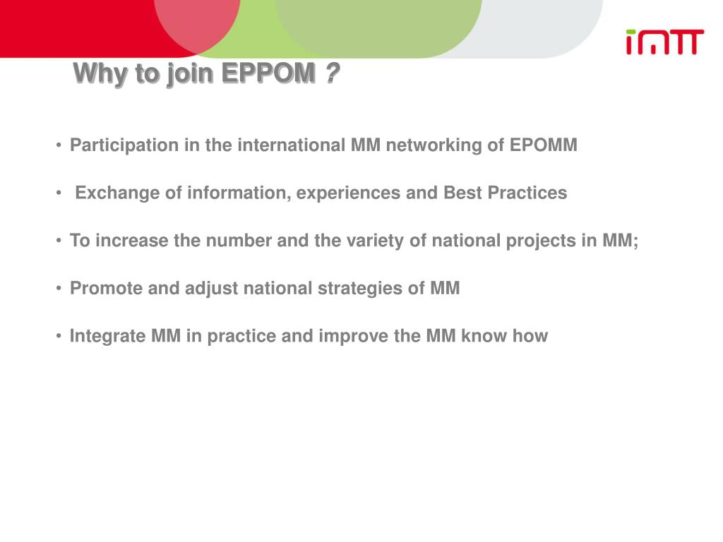 Why to join EPPOM