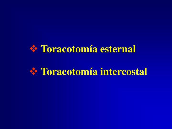 Toracotomía esternal