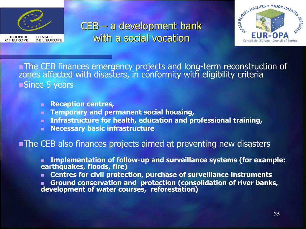 CEB – a development bank