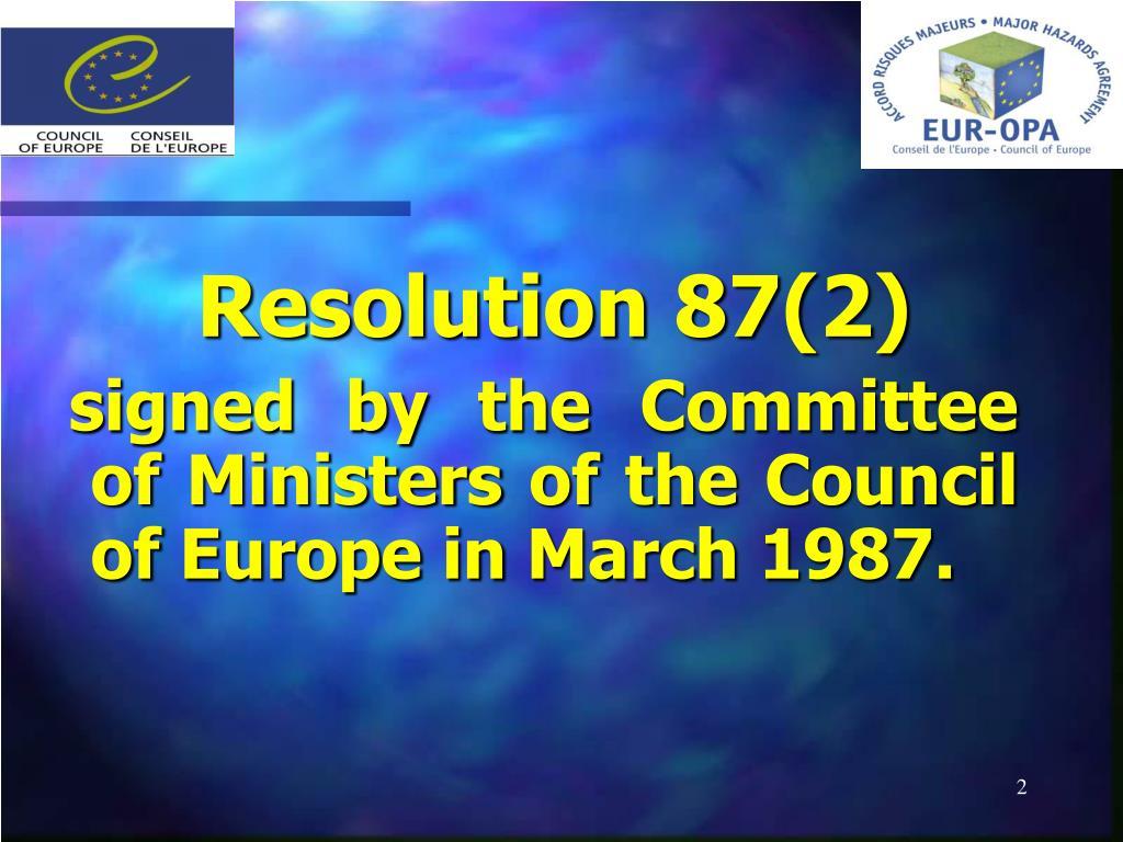 Resolution 87(2)