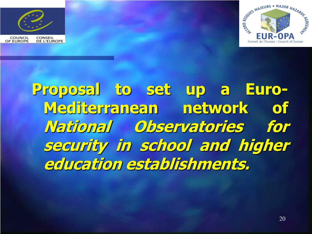 Proposal to set up a Euro-Mediterranean network of