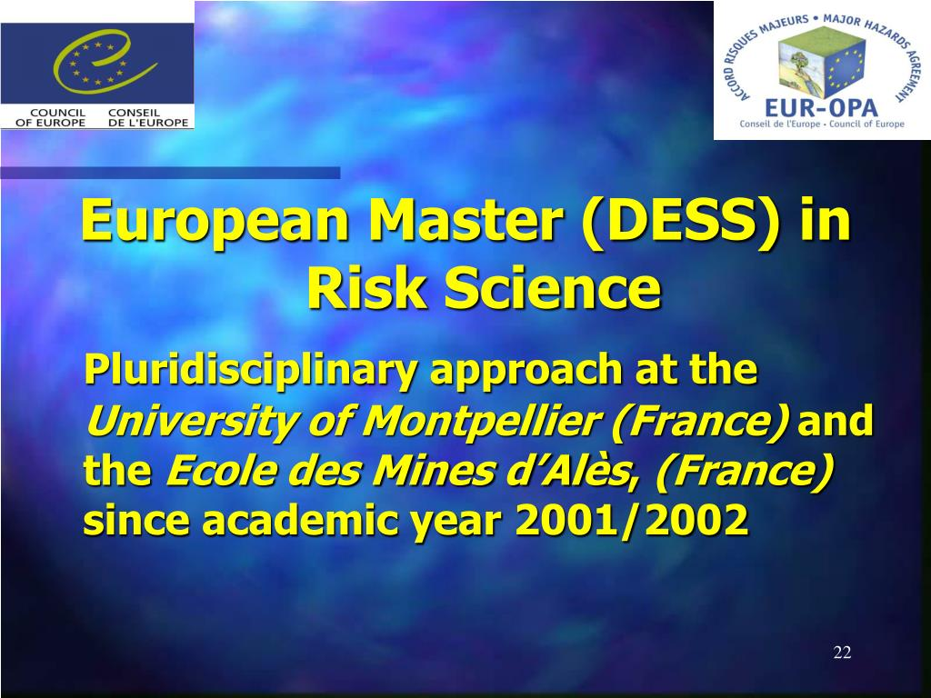 European Master (DESS) in Risk Science