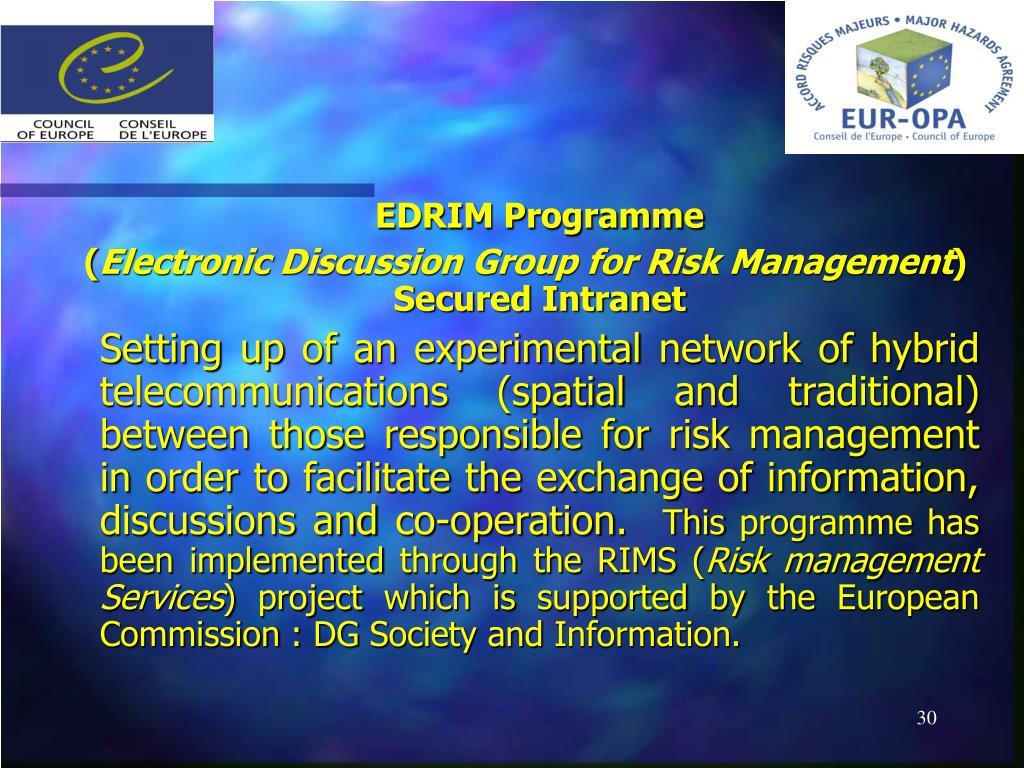 EDRIM Programme