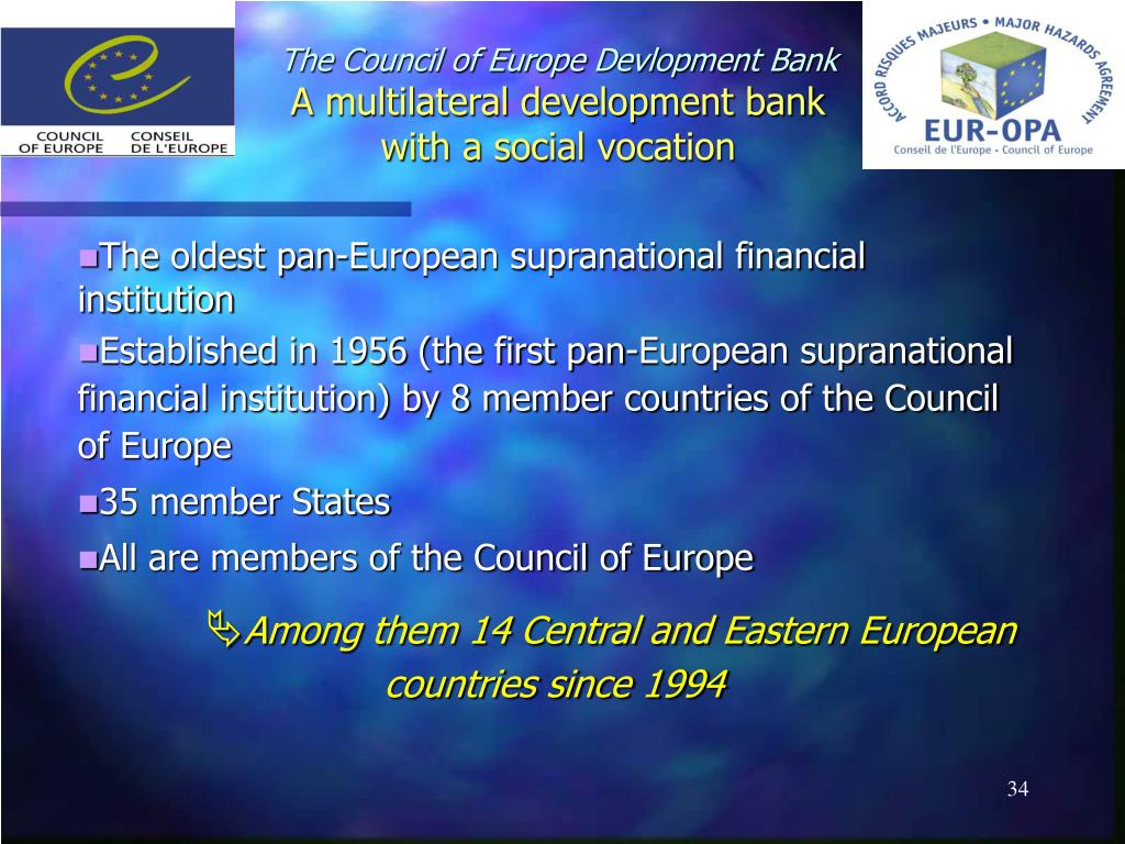The Council of Europe Devlopment Bank