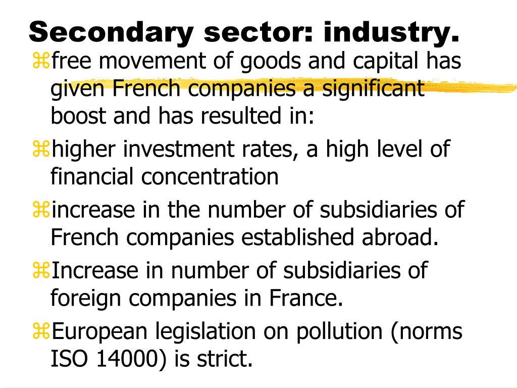 Secondary sector: industry.