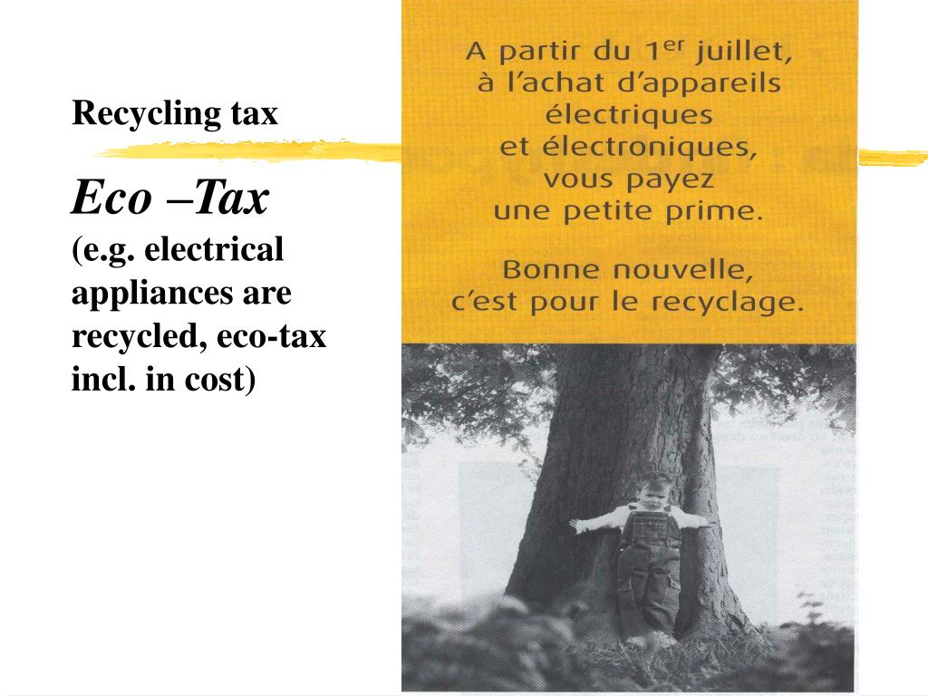 Recycling tax