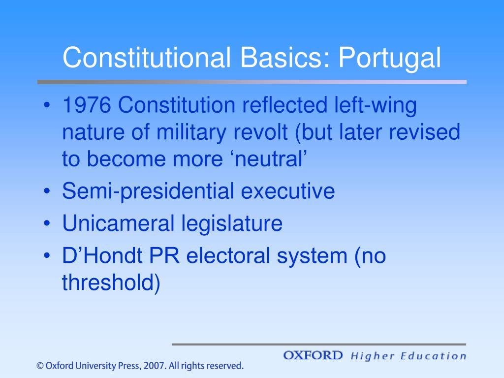 Constitutional Basics: Portugal