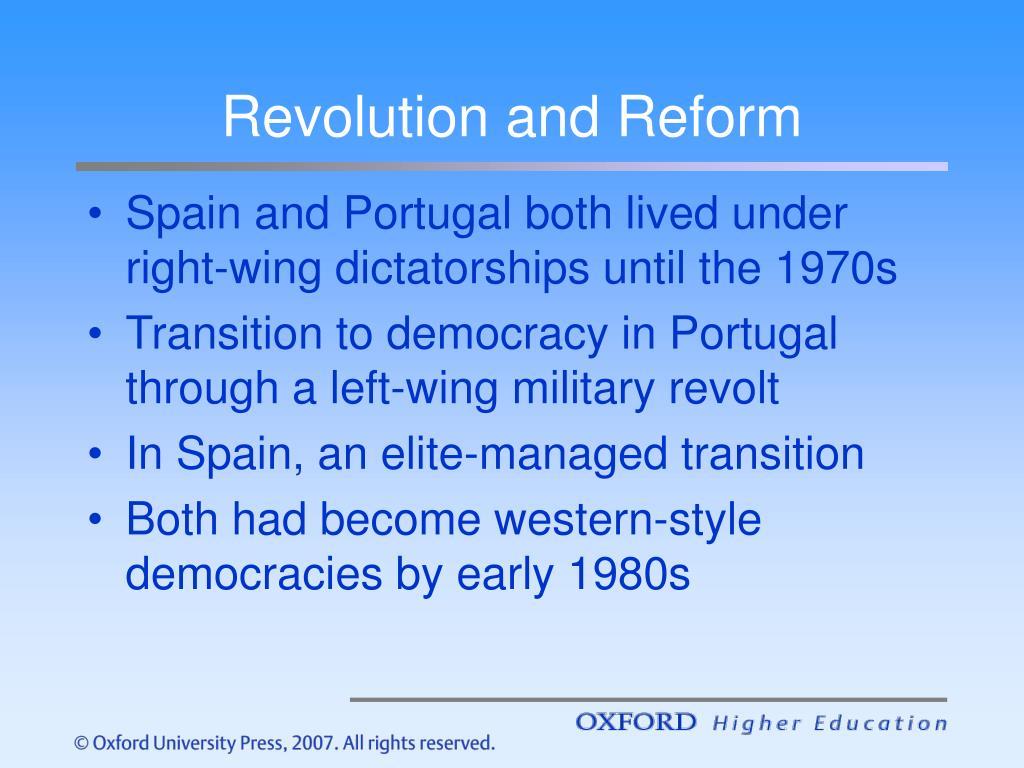 Revolution and Reform