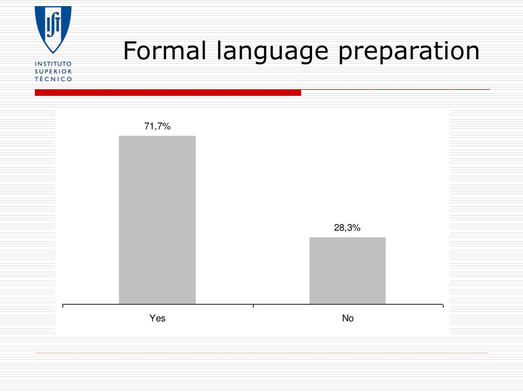 Formal language preparation