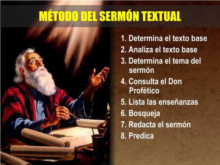 MÉTODO DEL SERMÓN TEXTUAL
