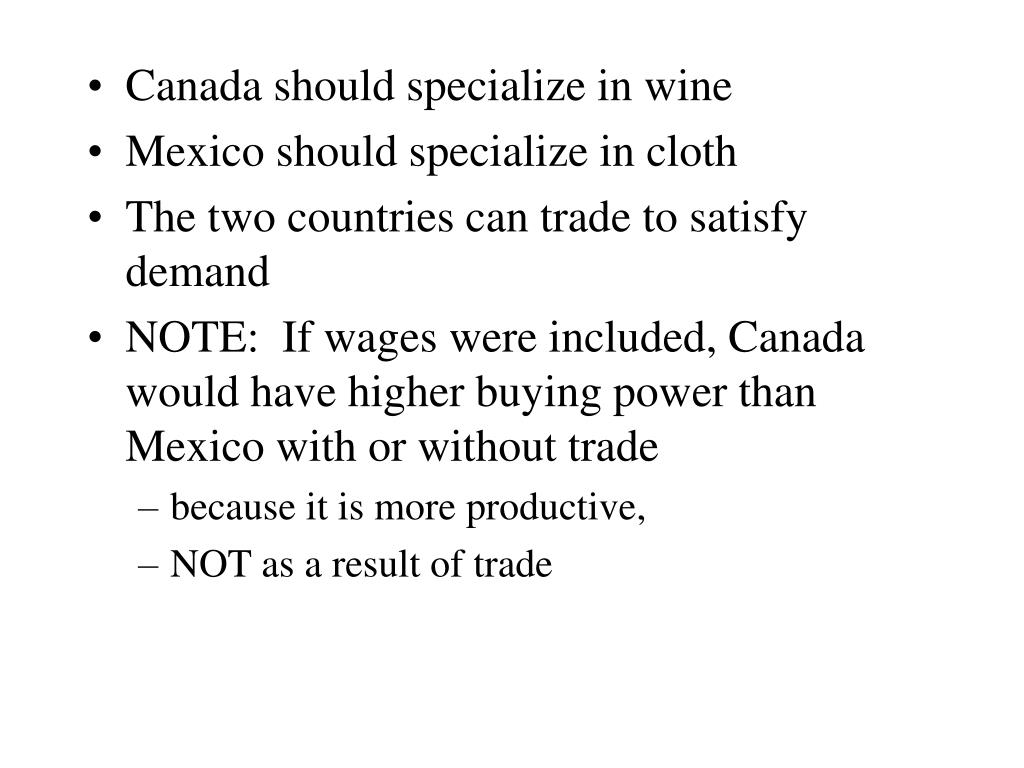 Canada should specialize in wine