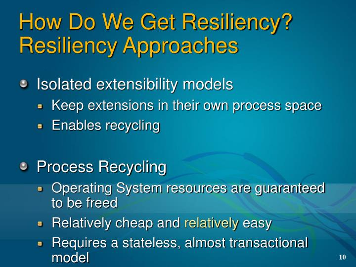 How Do We Get Resiliency?