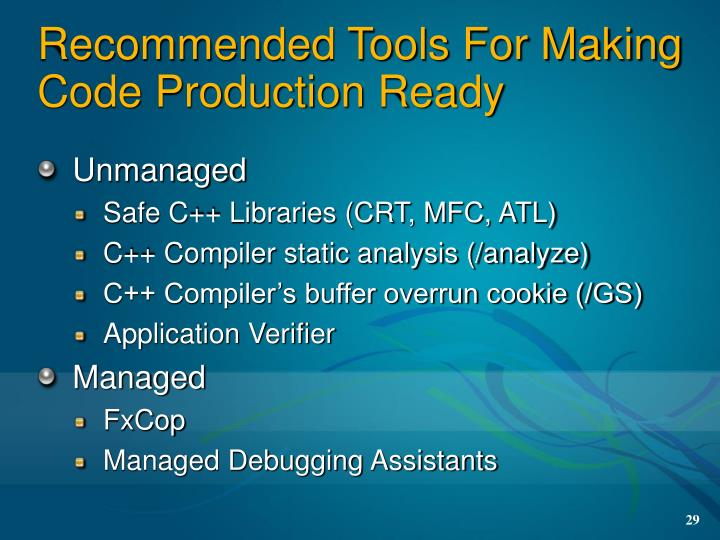 Recommended Tools For Making Code Production Ready