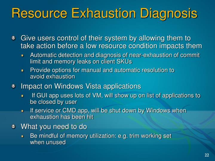 Resource Exhaustion Diagnosis