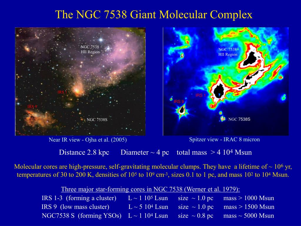 The NGC 7538 Giant Molecular Complex
