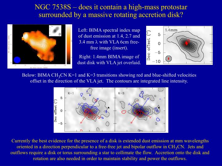 Ngc 7538s does it contain a high mass protostar surrounded by a massive rotating accretion disk l.jpg