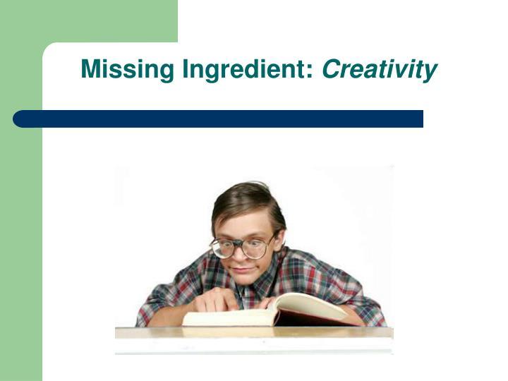 Missing Ingredient: