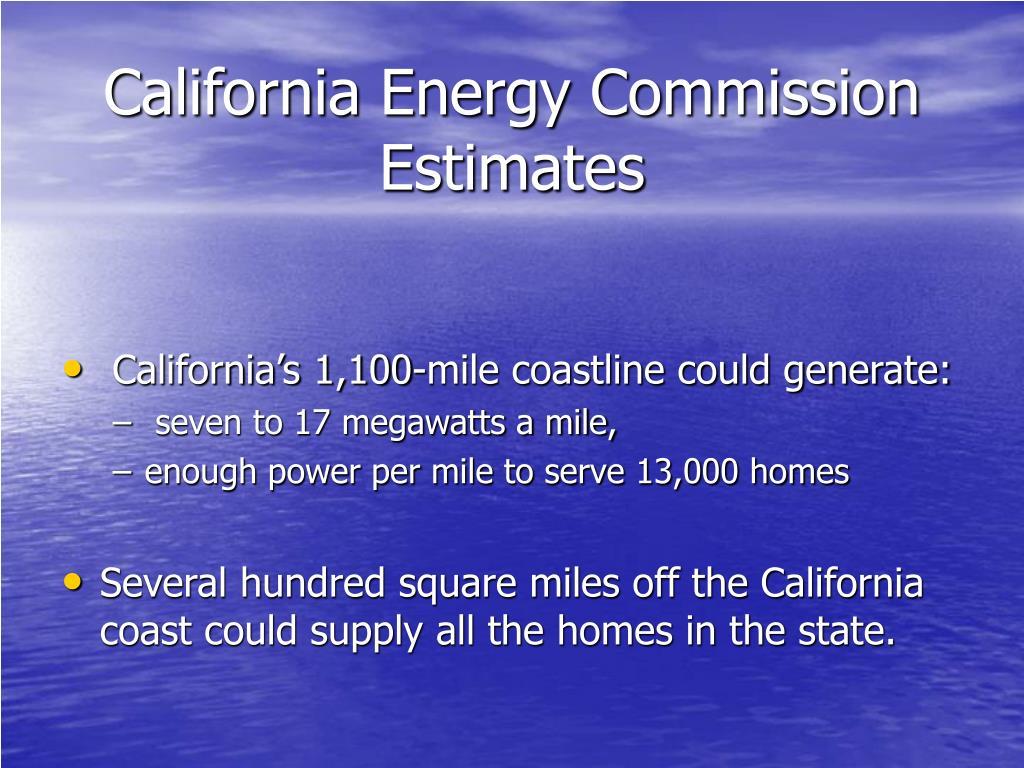 California Energy Commission Estimates