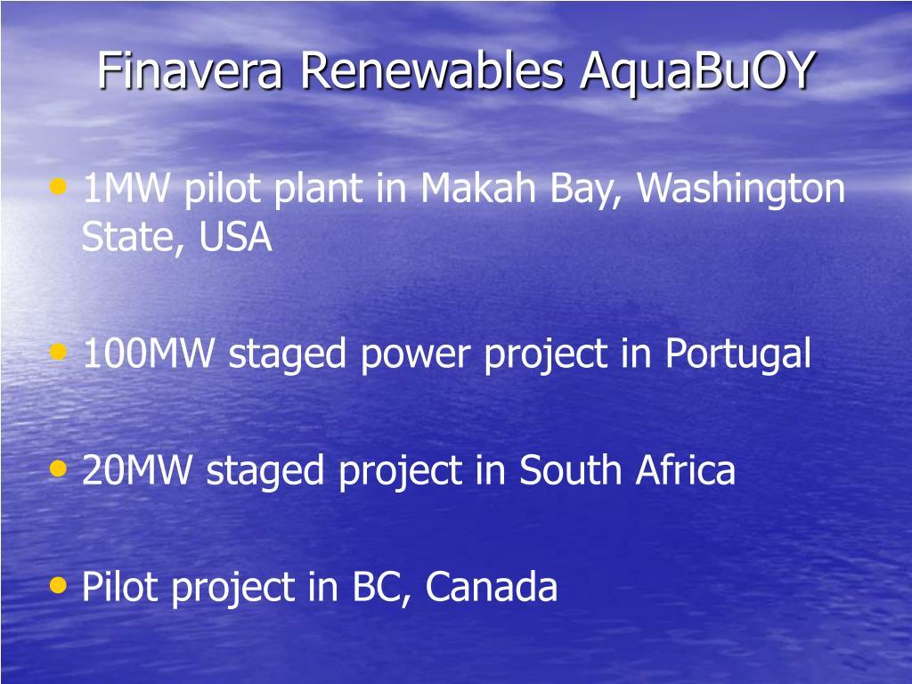 Finavera Renewables AquaBuOY