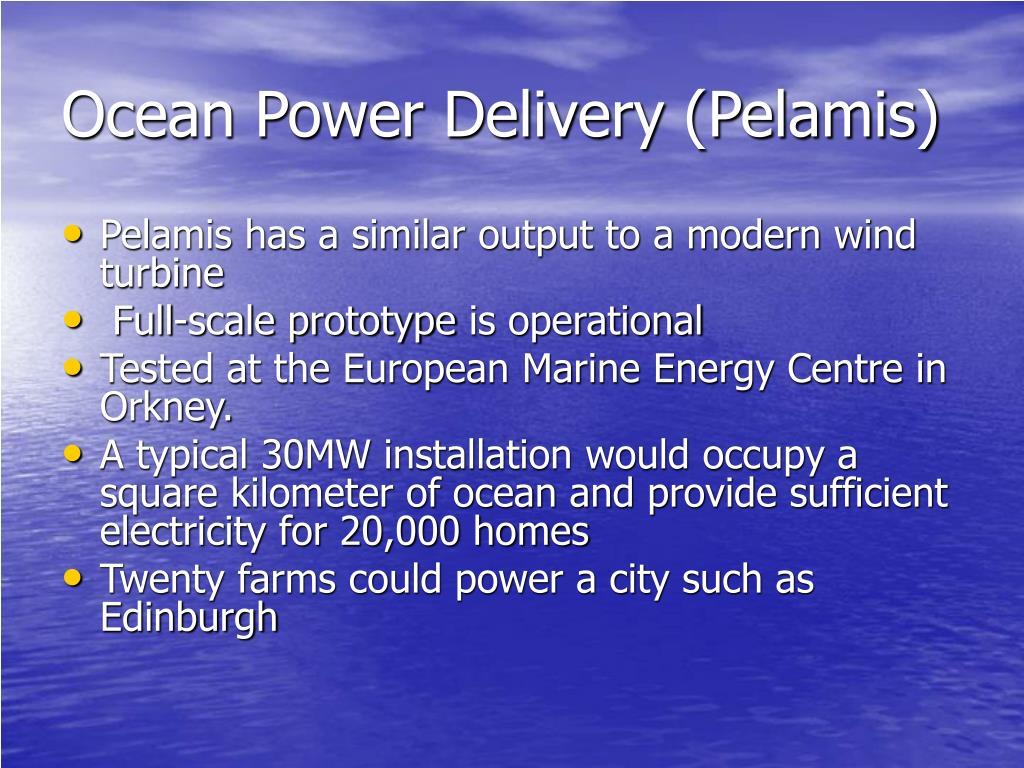 Ocean Power Delivery (Pelamis)